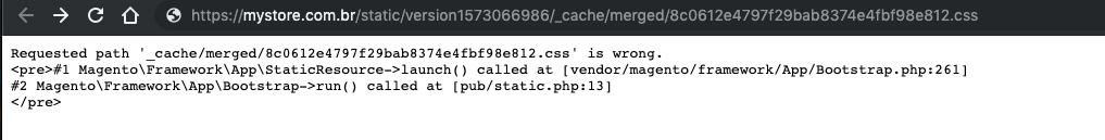 Magento2 static content css 404