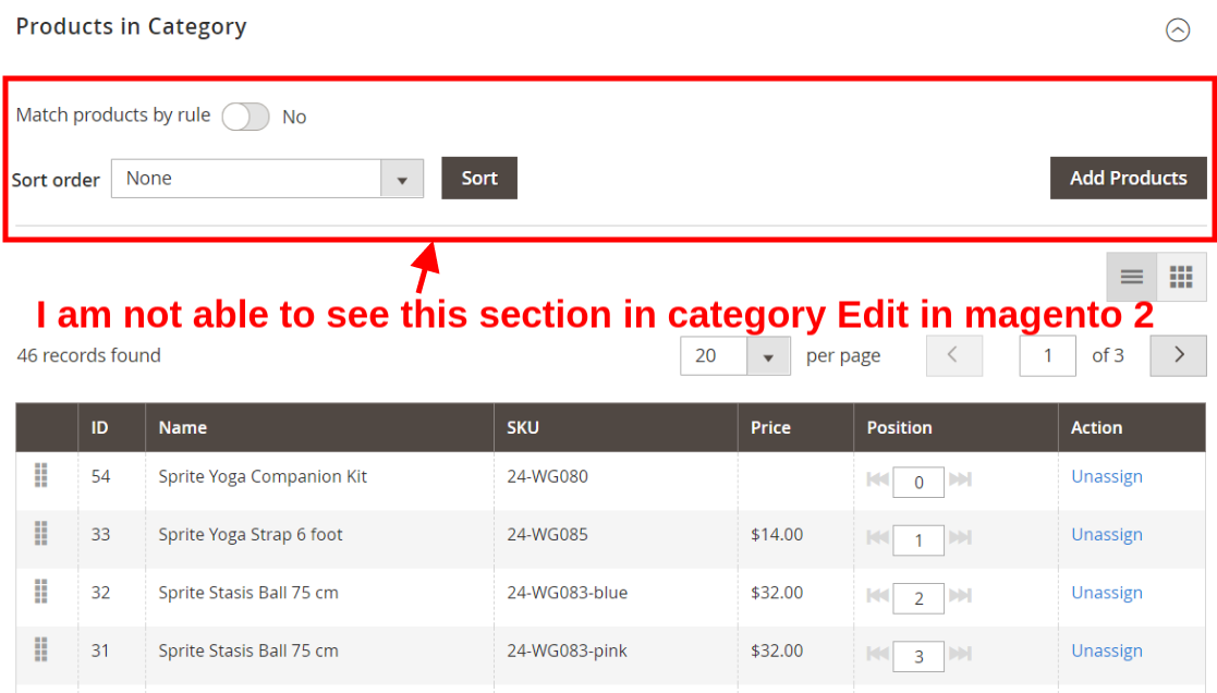"""""""sorting as newest product first option in products in category in category edit"""